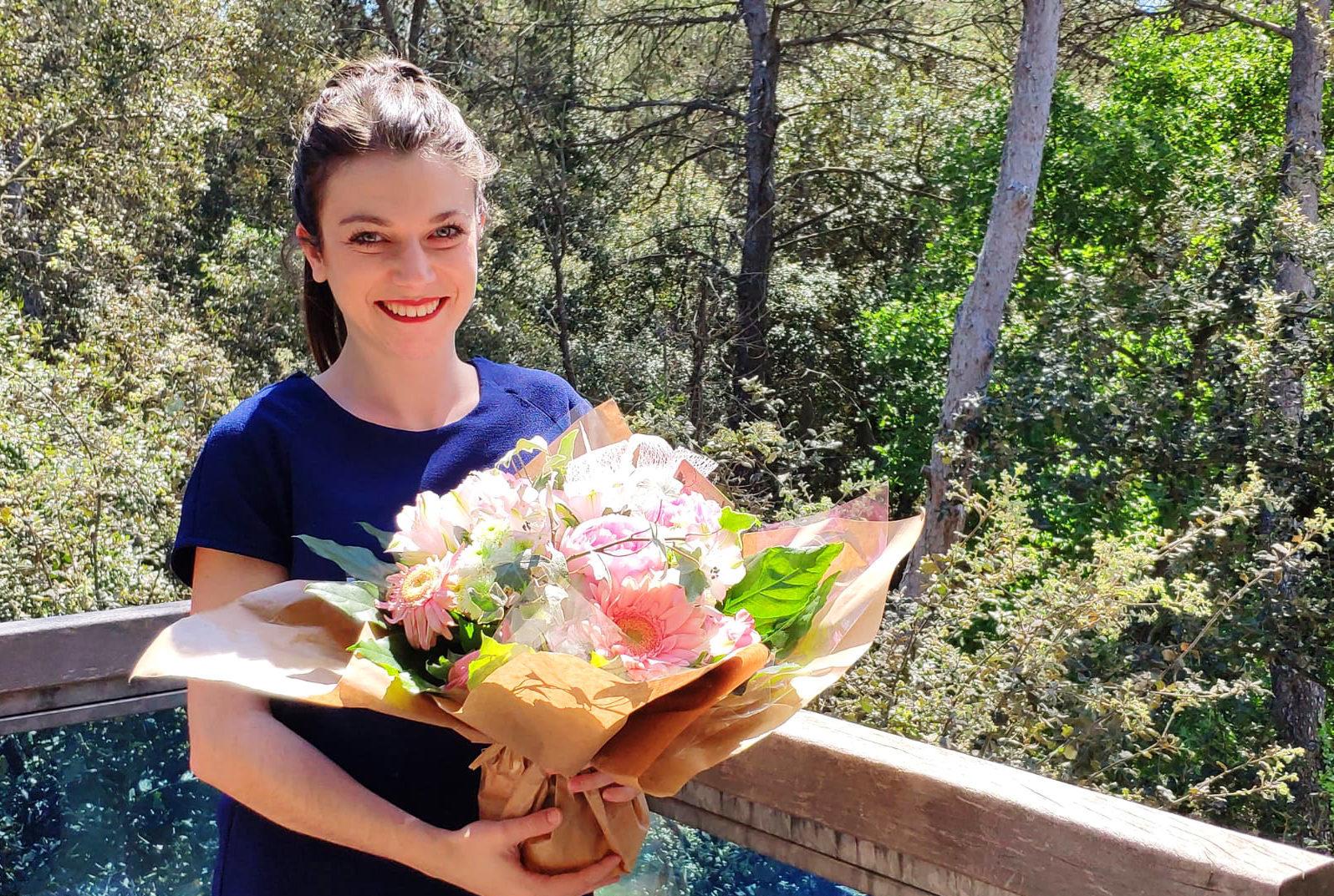 Célia en fleurs